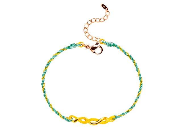 編織手鍊-交織幸福-藍綠
