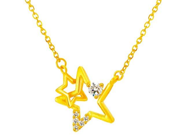 金項鍊-星星相扣