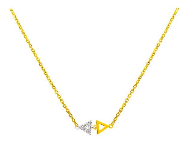 獨立-金銀配項鍊