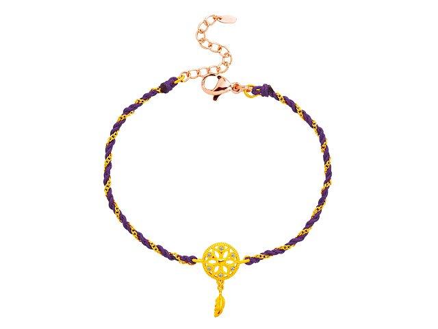 編織手鍊-捕夢網-紫