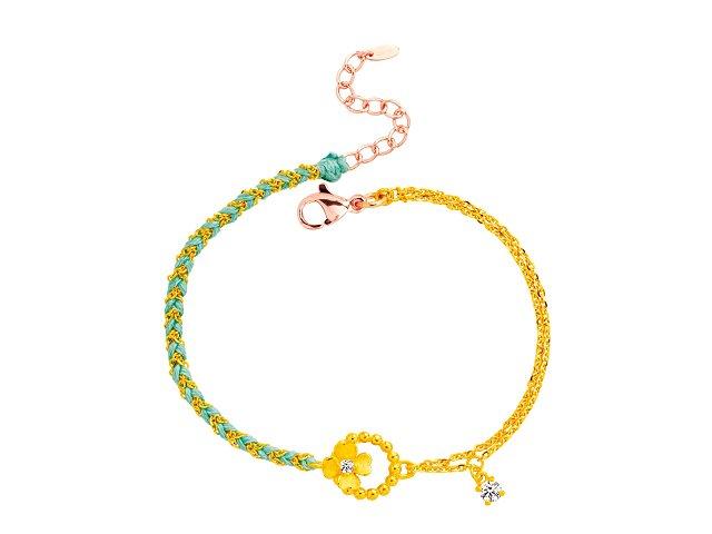 編織手鍊-簡單的幸福-藍綠